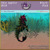 *E* Happy Hippocampus Skin Applier [BOXED] Black/Pink