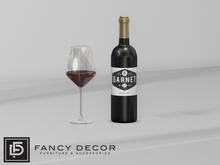 Fancy Decor: Garnet Wine (touch for glass)