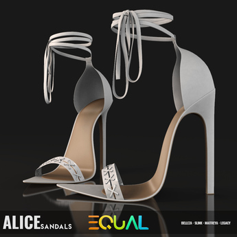 EQUAL - Alice Sandals WHITE