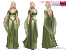 %50SUMMERSALE MAITREYA FULL PERM FITMESH Strapless Sweetheart Neck Long Skirt Elf Dress Outfit Costume with Neck Cape