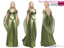 MAITREYA FULL PERM FITMESH Strapless Sweetheart Neck Long Skirt Elf Dress Outfit Costume with Neck Cape