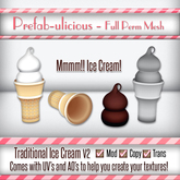 Prefab-ulicous Full Perm Ice Cream Set V3 {Unpacker}
