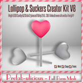 Prefab-ulicious Full Perm Mesh Lollipop & Sucker Creator Kit V1