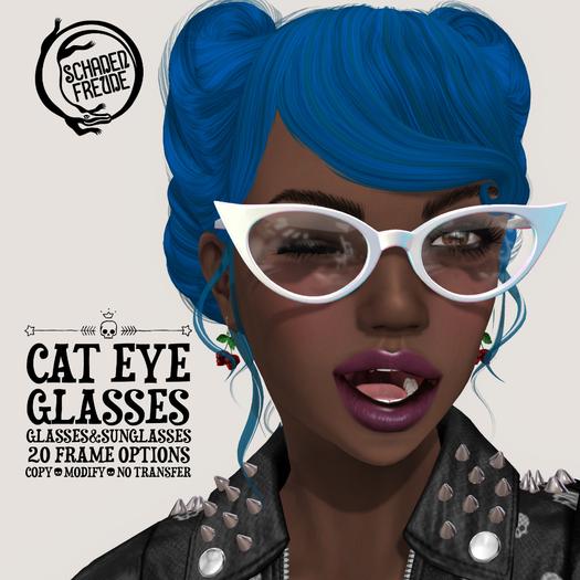 Schadenfreude Cat Eye Glasses