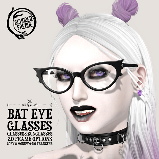 Schadenfreude Bat Eye Glasses