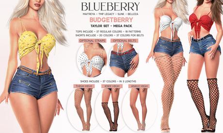 Blueberry - Taylor Set - Top / Belt / Shorts / Shoes - Mega Pack