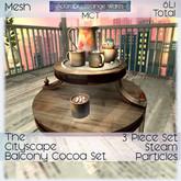 ~ASW~ The Cityscape Balcony Hot Cocoa Table