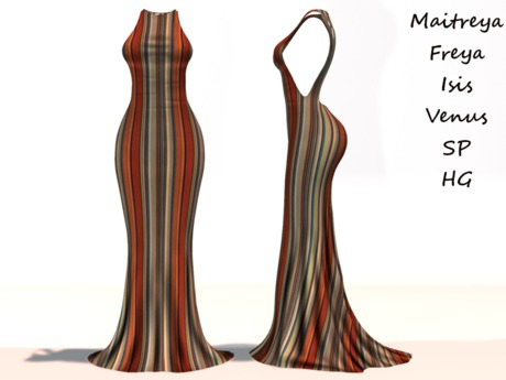 ~PP~ Season Striped Gown