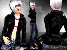 Jacket, Coat, Leather, Cattiva - Leather Jacket - Brown - Women's