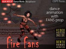 A&M: Fire Fans - fire show dance animation (BENTO) :: #TAGS - fire show, performance, fan. fans, FireFan, techno