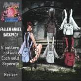 ::AMF:: Fallen Angel Backpack Doodles- Add to Open