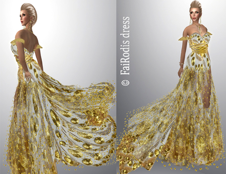 FaiRodis Golden Rain gown pack
