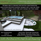 SR Pool Deck Linden Home Add On (Also Works as Stand Alone on any other land which can fit it!)