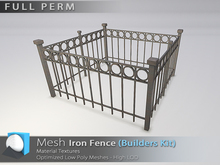 "[Prim 3D] - Iron Fence - Builders Kit ""FULL PERM"""