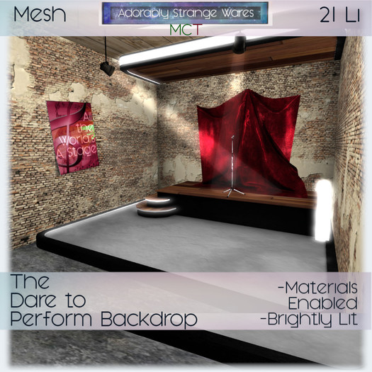 ~ASW~ The Dare to Perform Backdrop