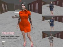 Valkyries Maitreya Denim inmate dress, fatpac