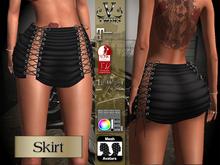 V-Twins Biker Clothes - Individual Items Mesh Skirt - Freeloader Collection (Slink Belleza & Maitreya)