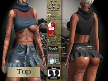 V-Twins Biker Clothes - Individual Items Mesh Top - Collateral Collection (Slink Belleza & Maitreya)