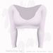 Gaia - Emelia Crop Top WHITE