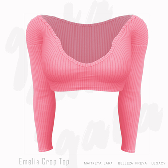 Gaia - Emelia Crop Top PINK