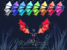 Fae Wings - JOMO dragon wings partial texture mod