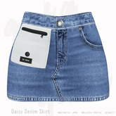 Gaia - Daisy Denim Skirt NAVY