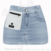Gaia - Daisy Denim Skirt WASHED