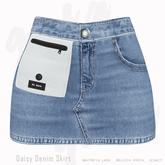 Gaia - Daisy Denim Skirt BLUE