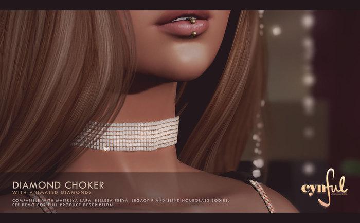 Cynful Diamond Choker   [Maitreya Lara, Belleza Freya, Slink (HG), Legacy, Kupra