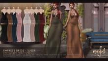 [Cynful] Empress Maxi Dress - FLF Pack 1  [Maitreya Lara, Belleza (Isis + Freya), Slink (HG), Legacy