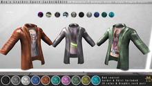 'TD' Men's Leather Space Jacket FATPACK Colors + Graphics