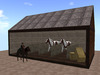 RE Horse Stall 16x10 - 6 Prims! Western/Old West Barn for Pony