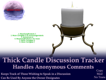 Thick Candle Discussion Tracker w/ Anonymous