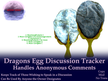 Dragons Egg Discussion Tracker w/ Anonymous