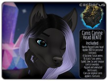.:C:. Canis Bento Head - Mesh Bento canine/canid/dog/wolf/fox head!