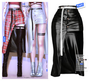 MIWAS / Meggy skirt #Black