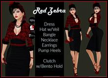 [DB] Rockabilly 50s Retro Red Zebra Maitreya Slink Belleza Vintage
