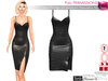 SAVE ALL BODIES FULL PERM Sexy PU High Slit Bodycon Sleeveless Slip Dress Maitreya Slink Belleza Tonic