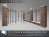 "[Prim 3D] - Brick & Iron Fence - Builders Kit ""FULL PERM"""