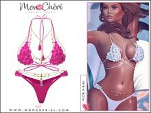 *MonCheri* Flor Bikini Set - NeonPink