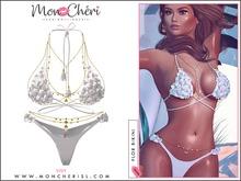 *MonCheri* Flor Bikini Set - White