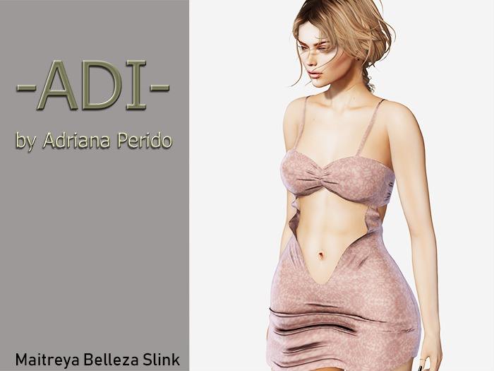 -ADI- Gift 1L Pink Brocade dress