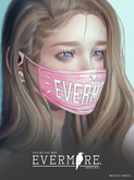 EVERMORE. [latex - antidust.mask] RED - wear me