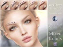 Eyebrows, Genus: LaraDawn.Glitter.Stars.GIFT.01
