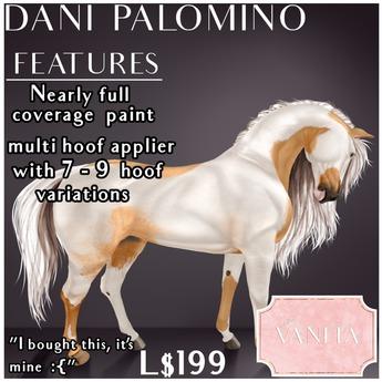 TEEGLEPET SKIN: Dani Paint PALOMINO