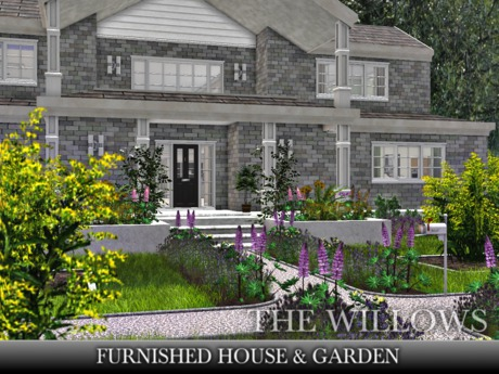 TMG - THE WILLOWS FURNISHED HOUSE & GARDEN with 432 Animations