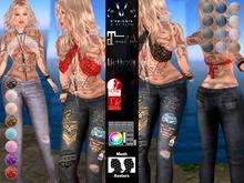 V-Twins - Biker Clothes - Millennial Collection **MESH Top & Chaps Compat. (Maitreya Belleza Slink)