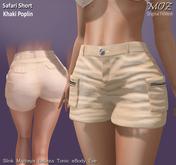 !MOZ Safari Shorts - Khaki Poplin * MAITREYA * SLINK * BELLEZA (I/F) * TONIC * EVE * eBODY