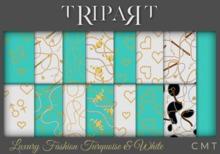 .::TRIPART::. Luxury Fashion Turquoise & White