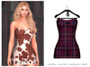 POSIE - Gisele Croset Mini Dress .TARTAN